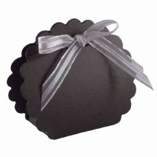 Black Scalloped Clam Designer Favour Boxes